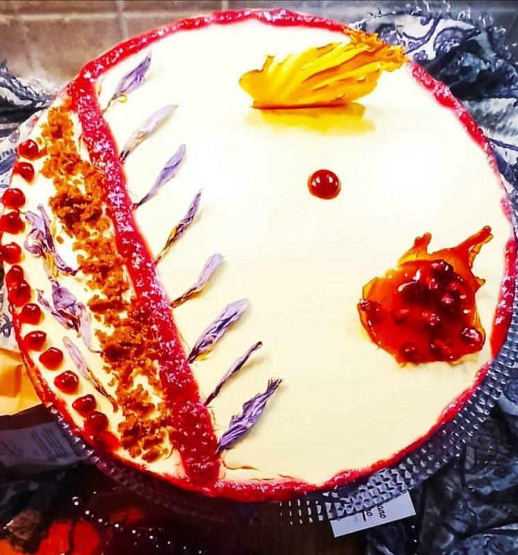 saffron bavarian cake