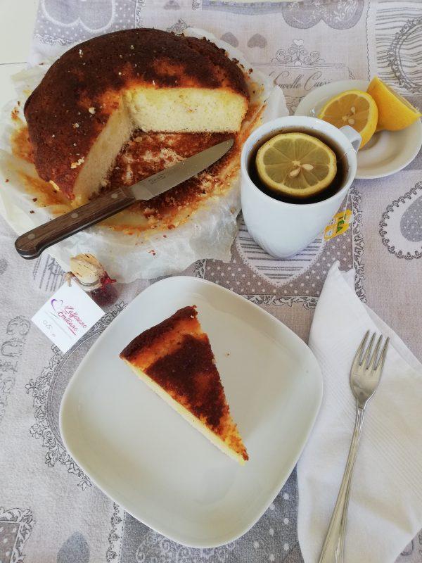 torta al limone e zafferano