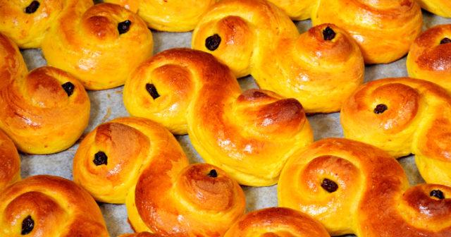 lussekatter panini dolci allo zafferano